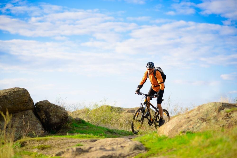 teenage bmx rider performing tricks
